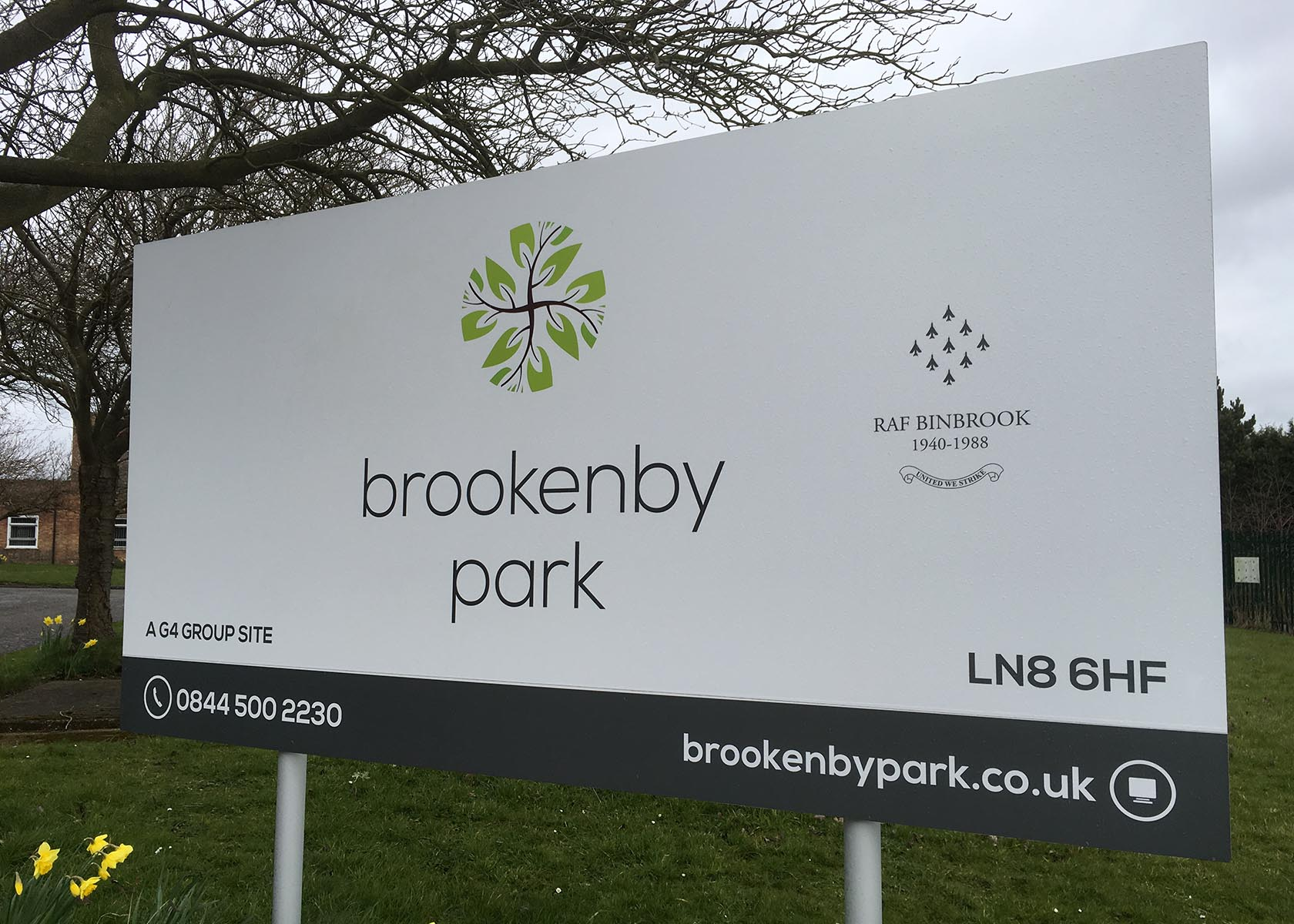 Brookenby Park entrance sign